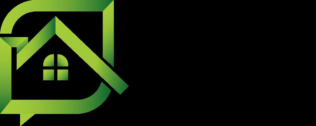 Housing triage logo black text