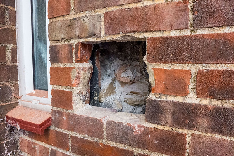 cavity wall insulation failure removal