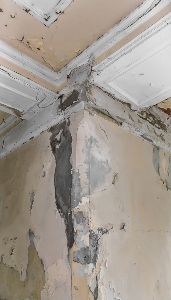 wall damage as a result of poor cavity wall insulation